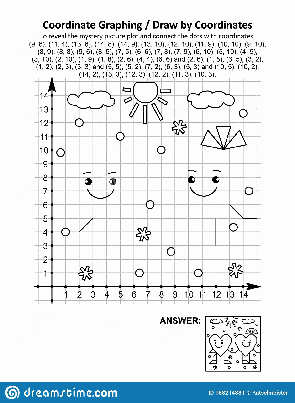 Valentine Day Coordinate Graphing Worksheets Luxury Coordinate Graphing Draw by Coordinates Math