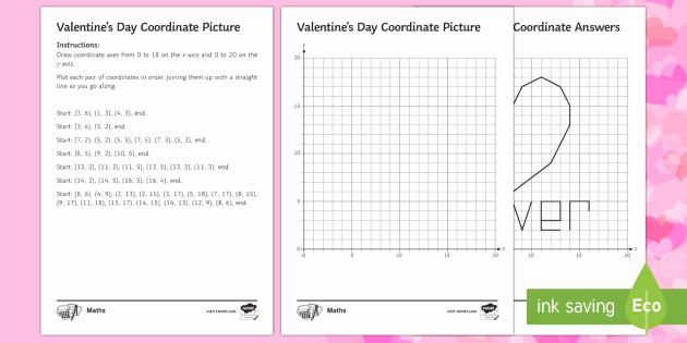 Valentine Day Coordinate Graphing Worksheets Luxury Valentine S Day Coordinates Worksheet
