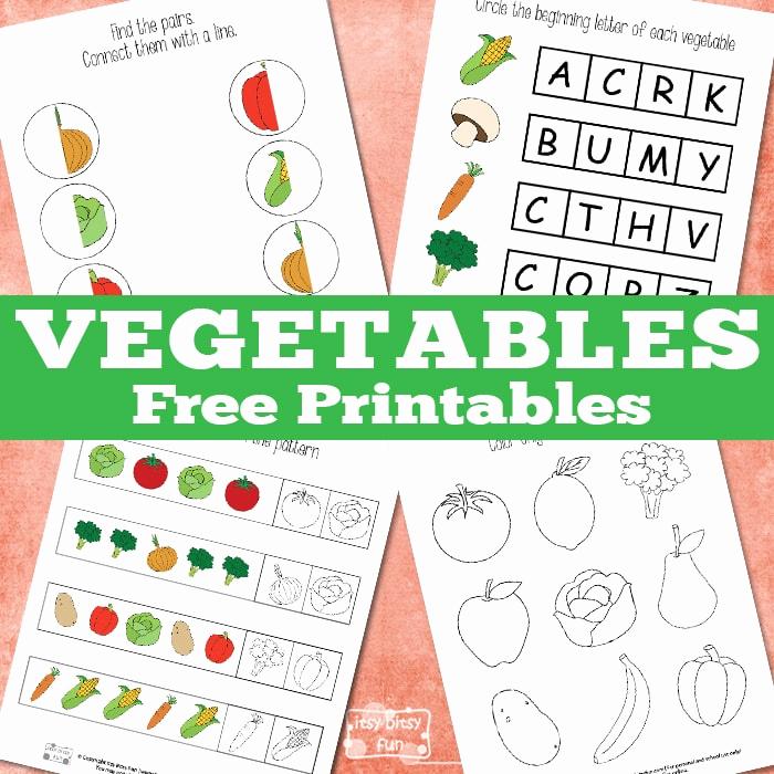 Vegetable Worksheets for Preschool Elegant Fun Ve Ables Printable Pack Itsybitsyfun