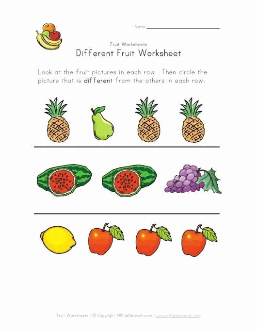 Vegetable Worksheets for Preschool Fresh Pin On Printable Worksheet for Kindergarten