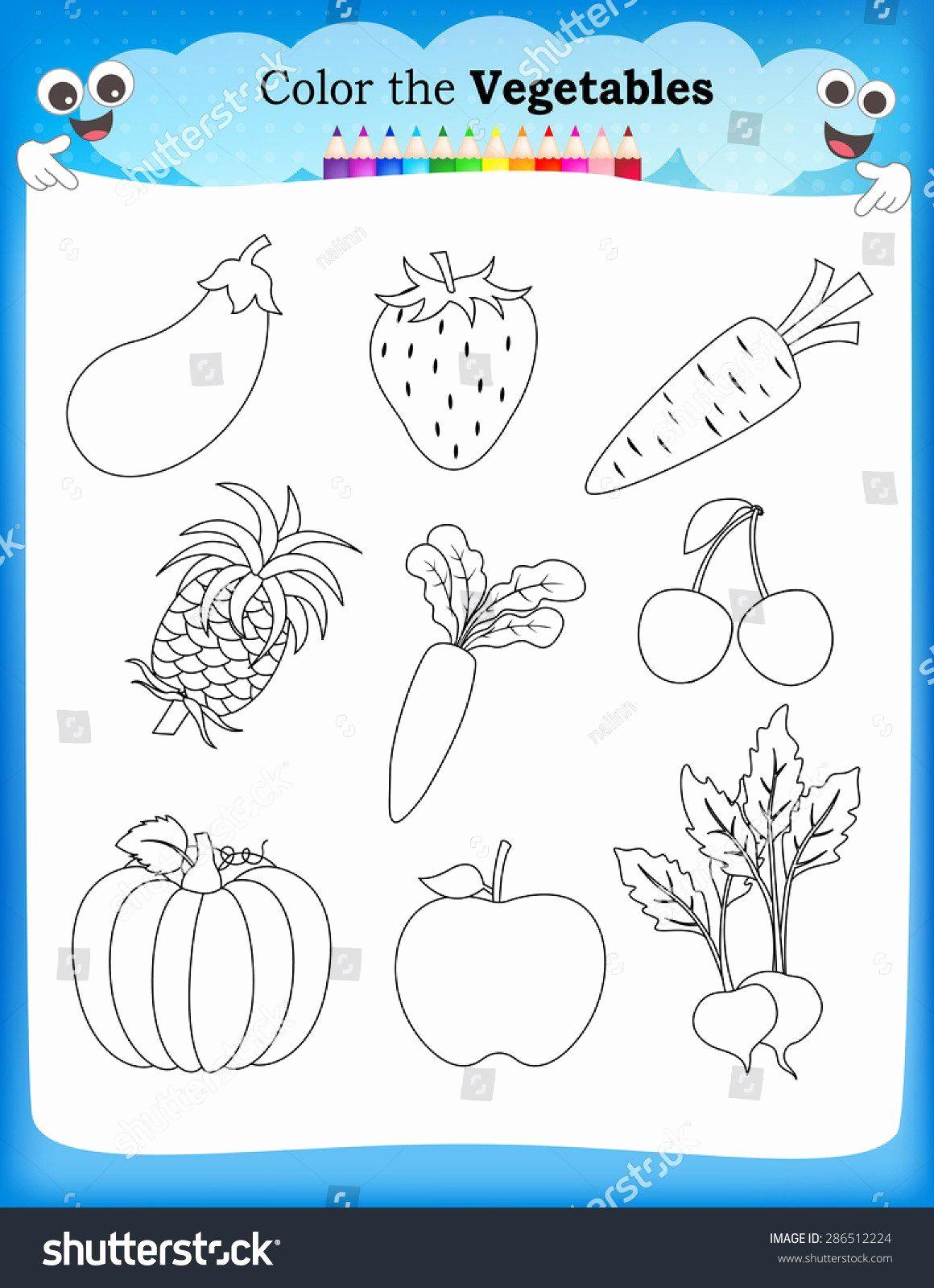 Vegetable Worksheets for Preschool Luxury Ve Able Worksheets for Kindergarten Kids Worksheet