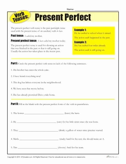 Verb Tense Worksheets Middle School Beautiful Verb Tense Worksheets Middle School Worksheets Master