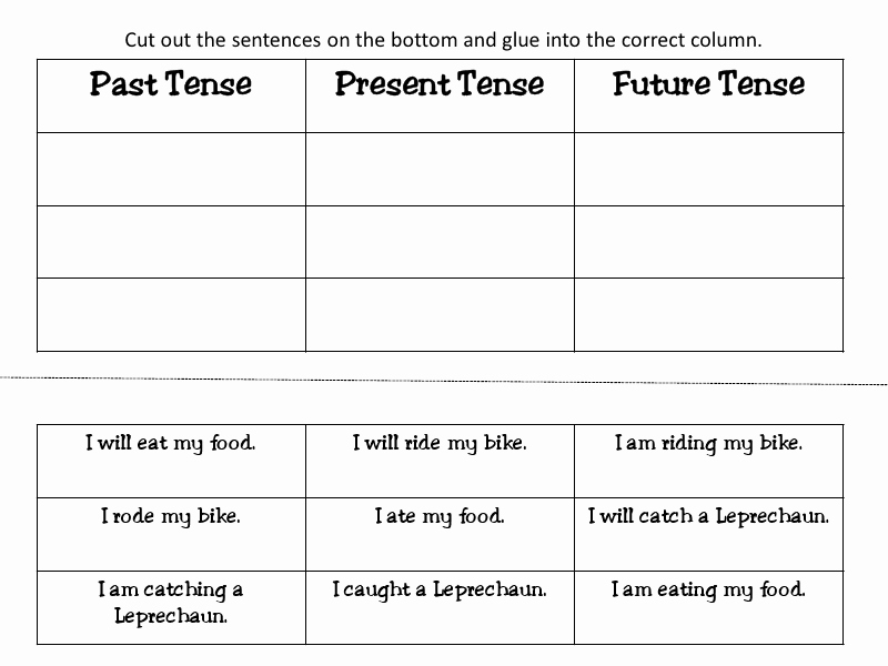 Verbs Past Present Future Worksheet Awesome 19 Best Of First Grade Present Tense Worksheet