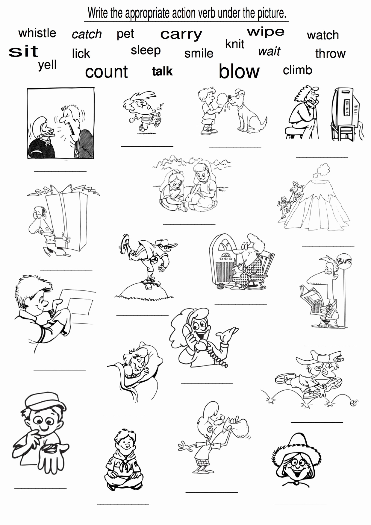 Verbs Worksheets First Grade Awesome Examples Of Action Verbs Verb Worksheets for Kindergar
