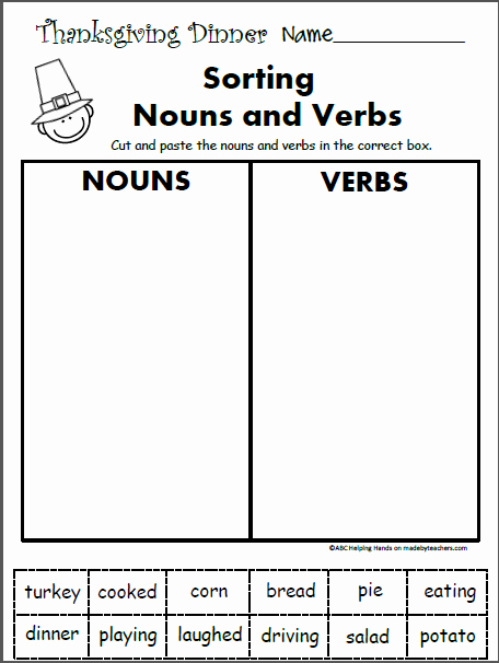 Verbs Worksheets First Grade Beautiful Free 1st Grade Worksheets for November Language Arts