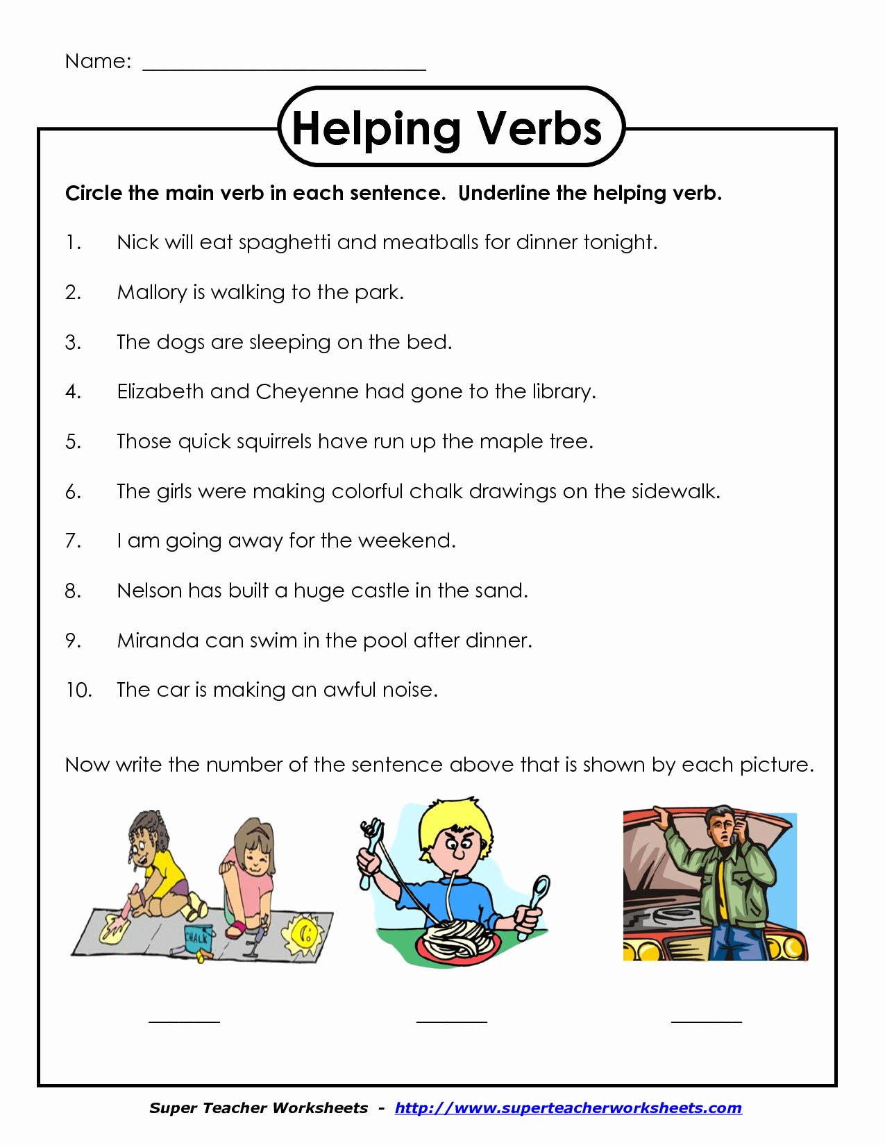 Verbs Worksheets First Grade Best Of Helping Verb Worksheet First Grade Worksheets Drawing