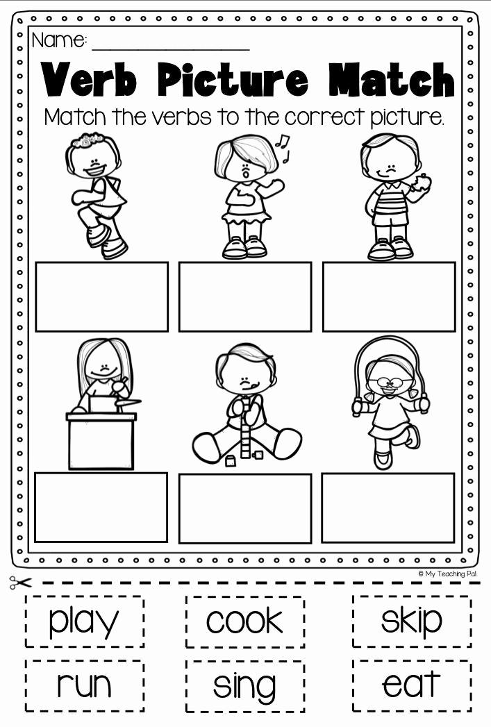 Verbs Worksheets First Grade Best Of Verbs Printable Worksheet Pack Kindergarten First Second