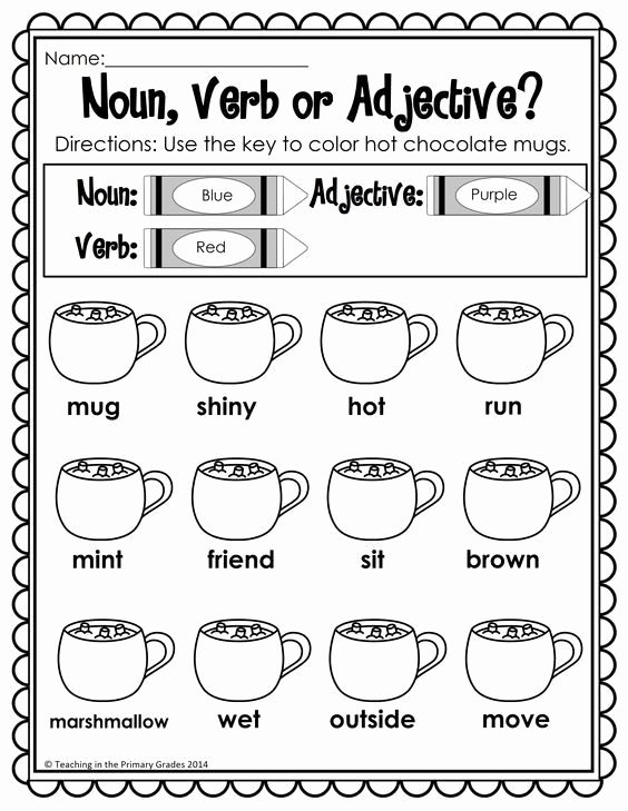 Verbs Worksheets First Grade Best Of Winter Math and Literacy Printables No Prep
