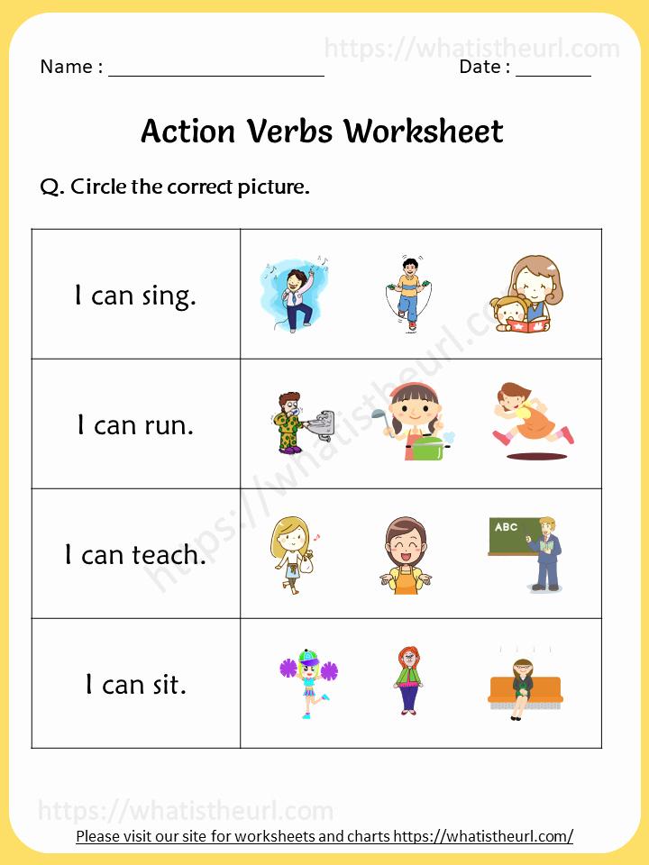 Verbs Worksheets First Grade Elegant Action Verbs Worksheets for 1st Grade Your Home Teacher