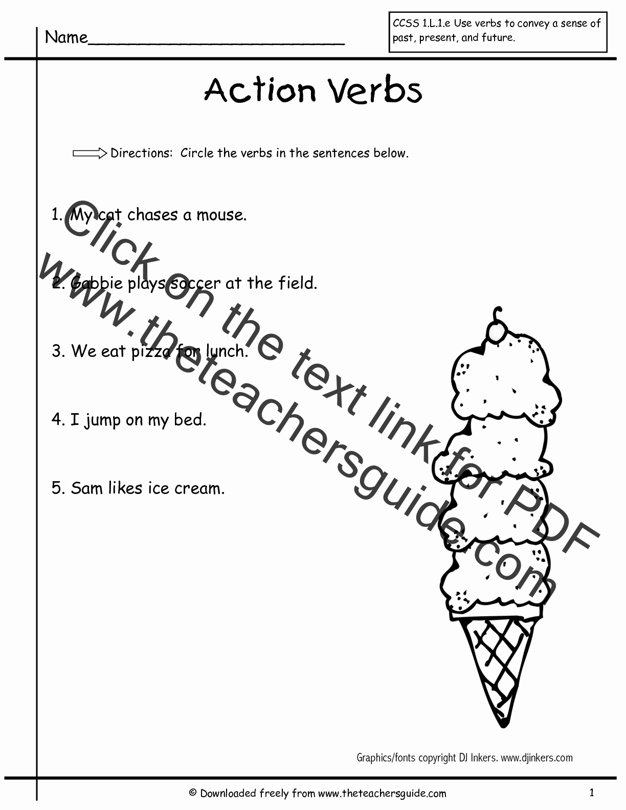 Verbs Worksheets First Grade Elegant Wonders First Grade Unit Three Week E Printouts