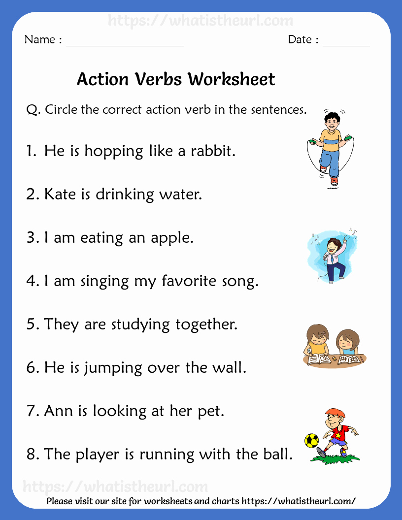Verbs Worksheets First Grade Fresh Action Verbs Worksheets for Grade 1 Rel 1 Your Home Teacher