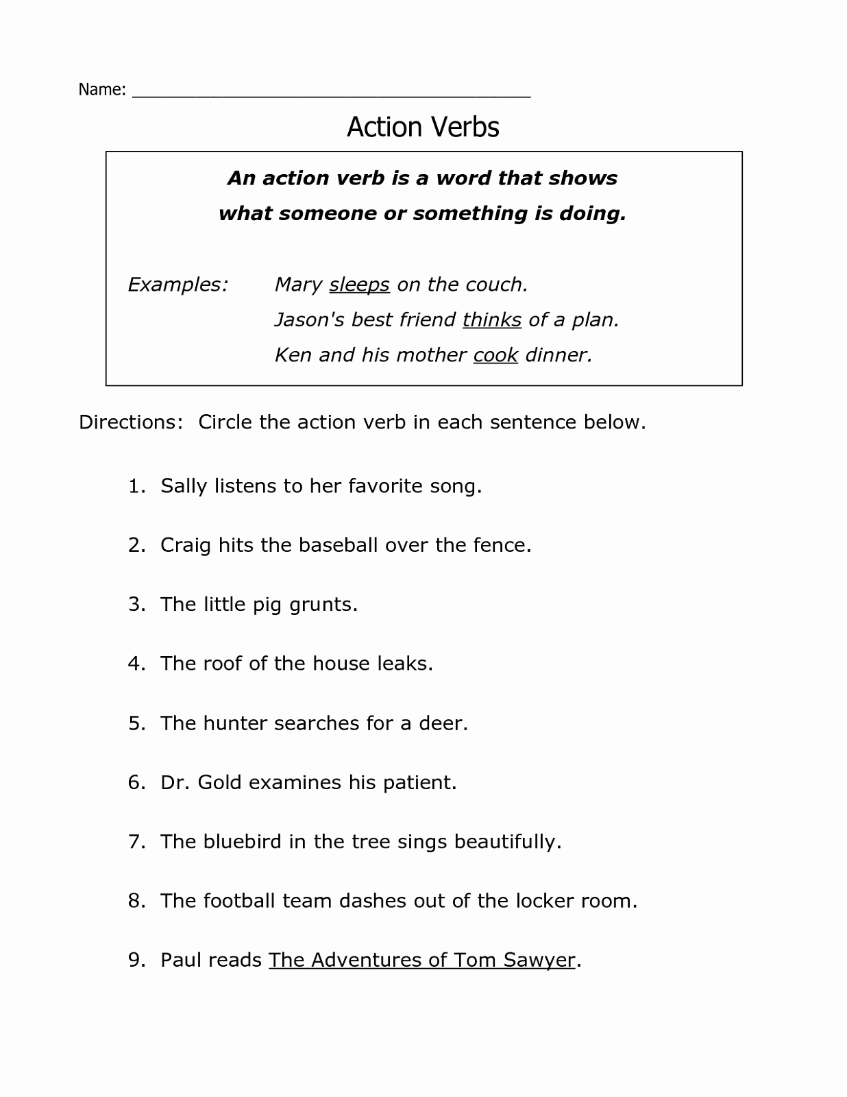 Verbs Worksheets First Grade Lovely First Grade English Worksheets to Print