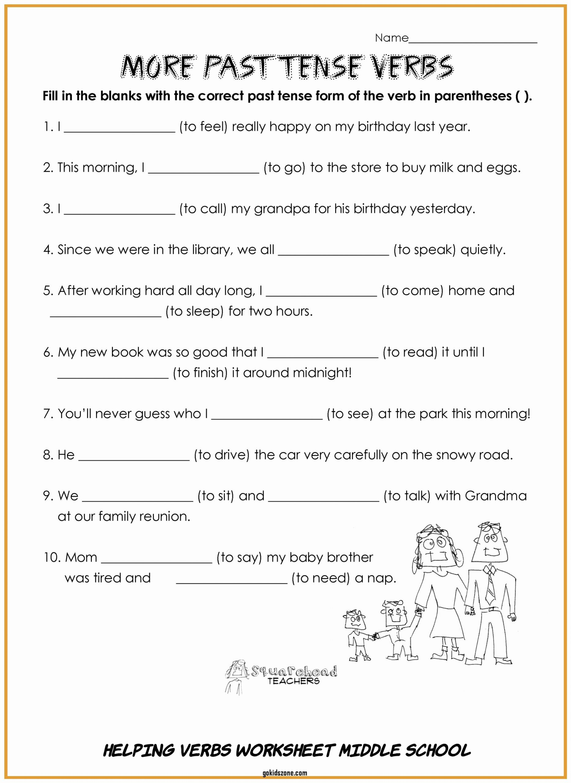 Verbs Worksheets for Middle School Fresh 6 Helping Verbs Worksheet Middle School