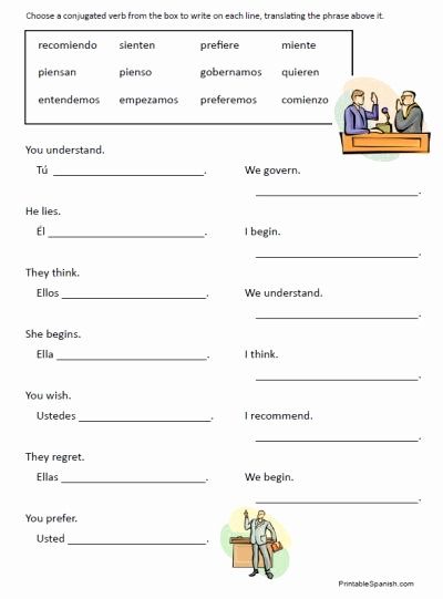 Verbs Worksheets for Middle School Inspirational Spanish Worksheets for Middle School