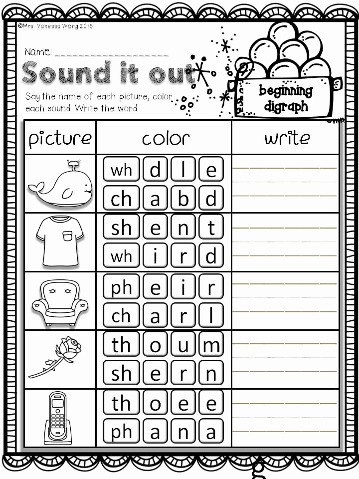 Vocabulary Worksheets for 1st Graders Luxury Phonics Vocabulary and Math for First Grade Worksheets