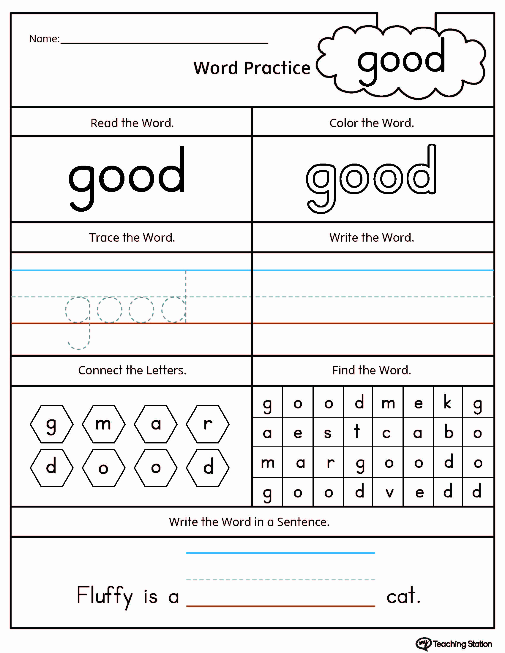 Vocabulary Worksheets for 1st Graders New Free 1st Grade Worksheet Sight Words 1st Grade