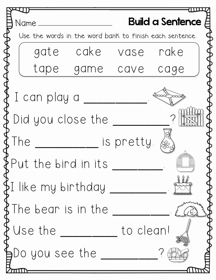 Vocabulary Worksheets for 1st Graders Unique 1st Grade Worksheets Best Coloring Pages for Kids