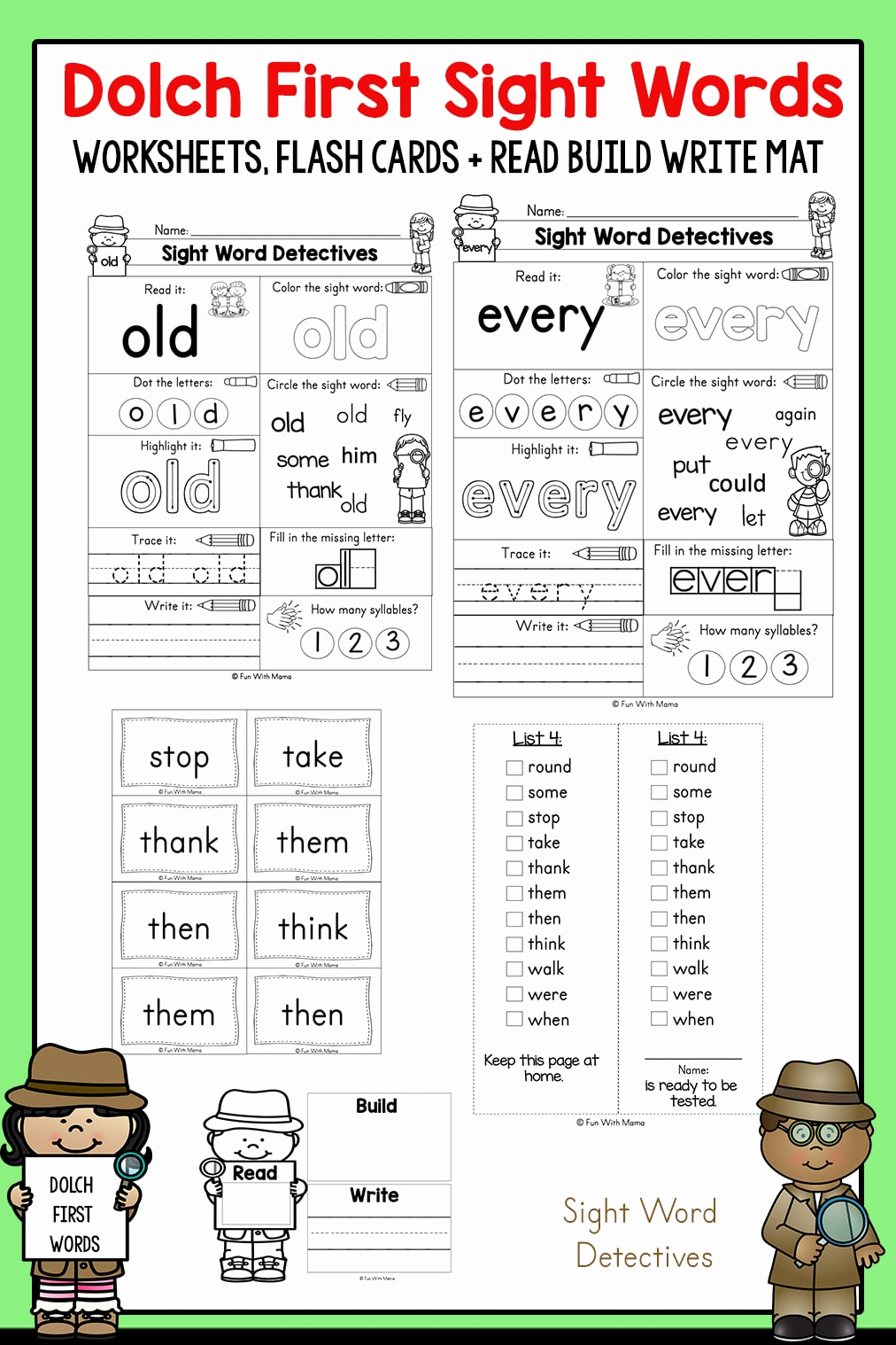 Vocabulary Worksheets for 1st Graders Unique First Grade Sight Words Interactive Worksheets for