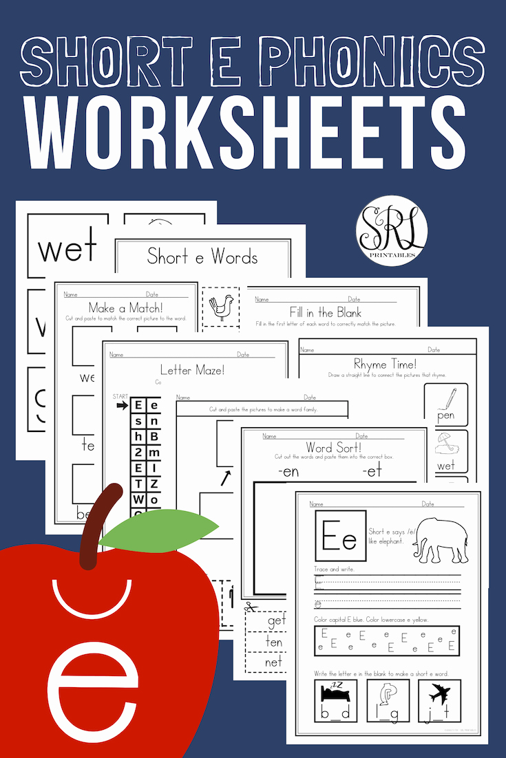 Vowel Consonant E Worksheets Beautiful No Prep Cvc Short E Worksheets Pack Vowel Consonant Vowel