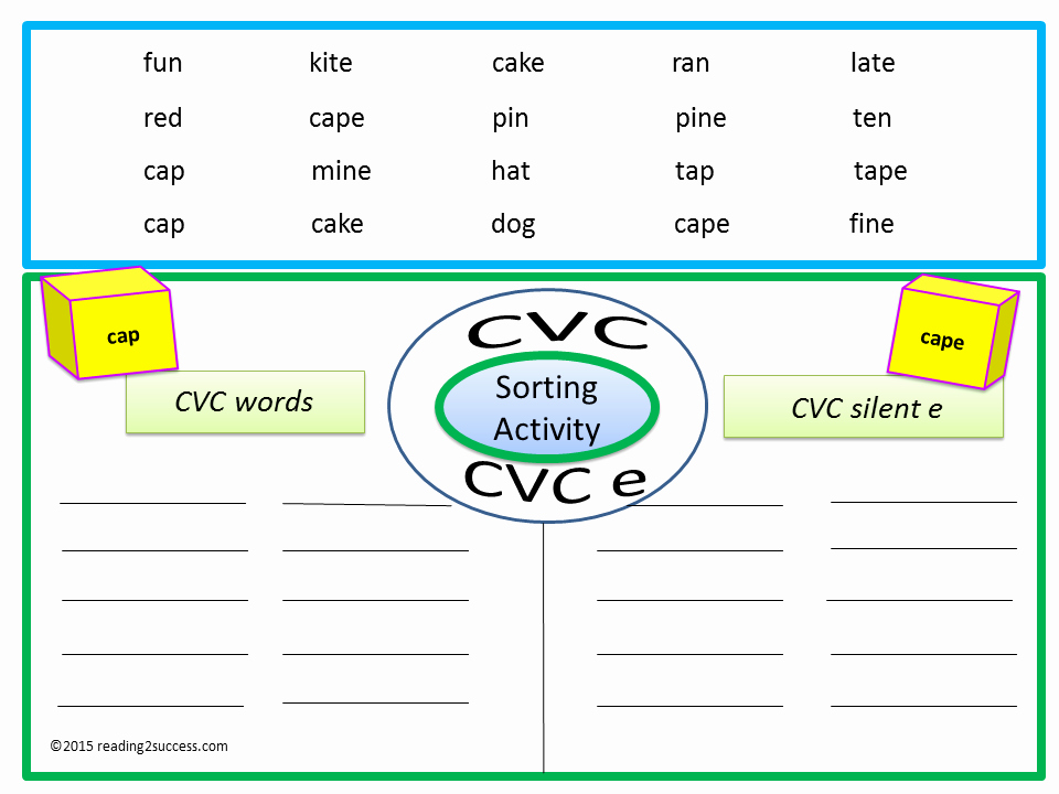 Vowel Consonant E Worksheets Fresh Reading2success Free Printable sorting Cvc Vowel Pairs