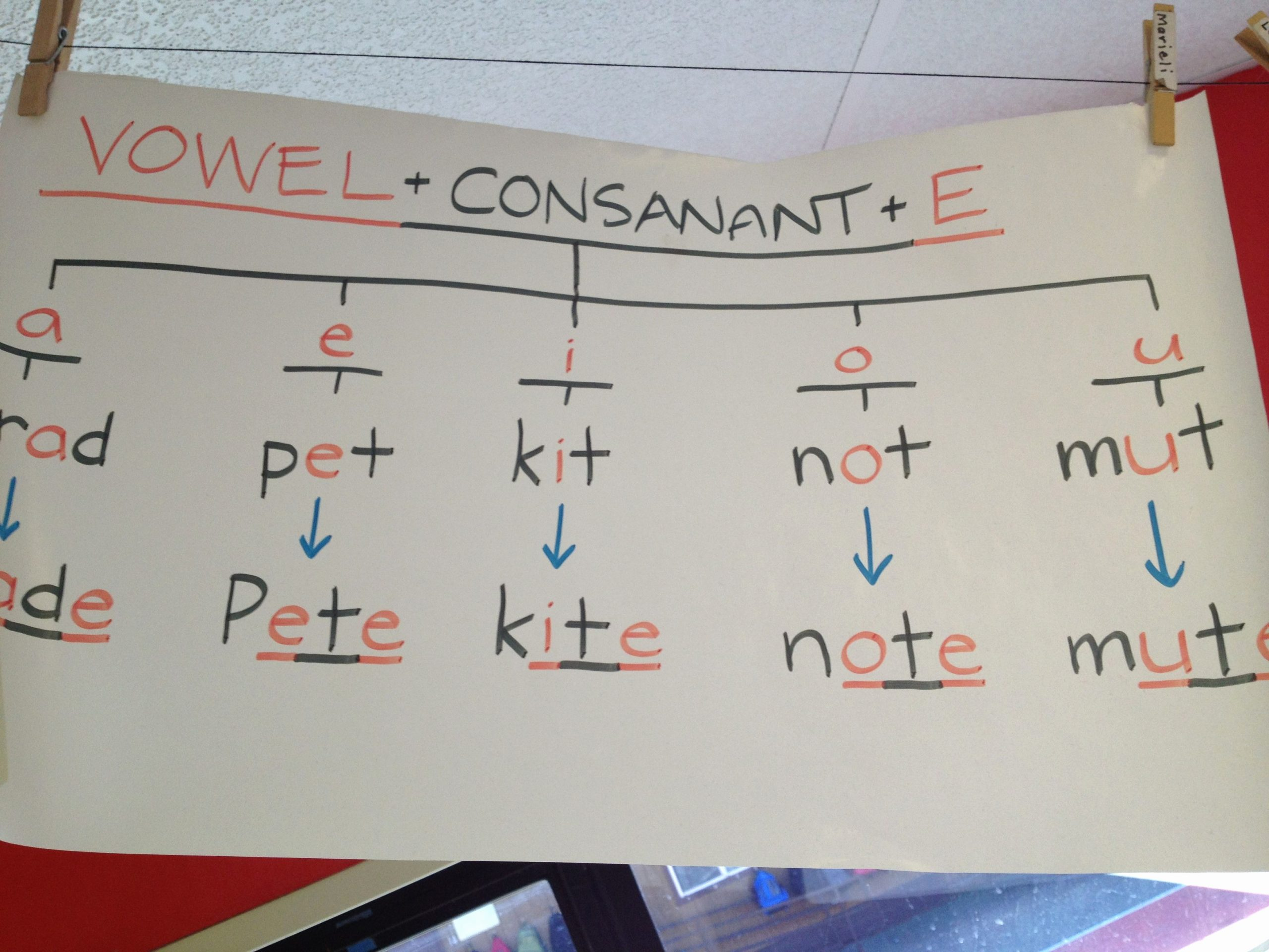 Vowel Consonant E Worksheets Inspirational Vowel Consonant E Consonant is Misspelled On Poster