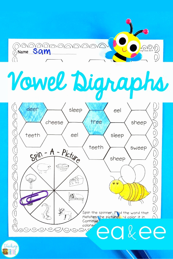 Vowel Team Ea Worksheets Awesome Ee and Ea Vowel Digraphs Activities and Posters