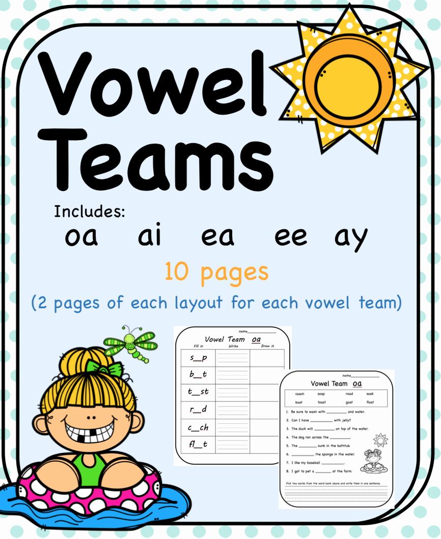 Vowel Team Ea Worksheets Best Of Vowel Teams 10 Worksheets Oa Ai Ea Ee Ay