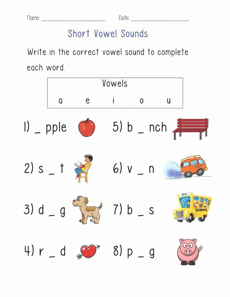 Vowel Worksheets for Kindergarten Beautiful Short Vowel sounds Worksheet