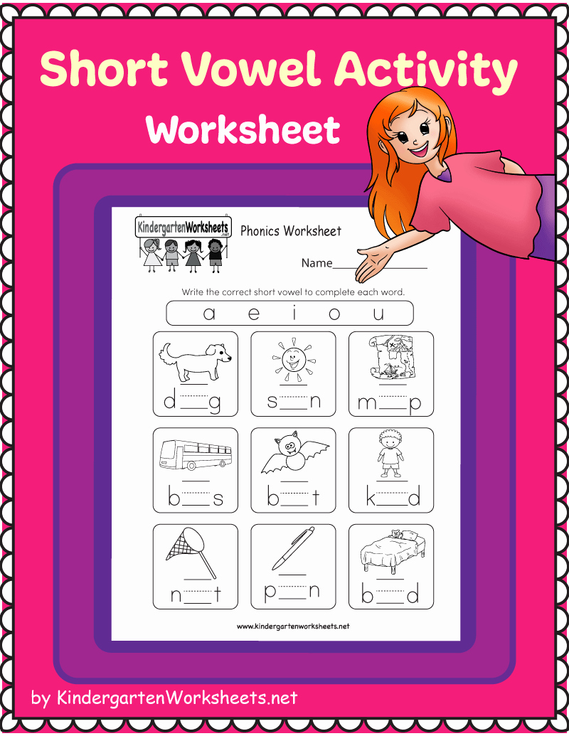 Vowel Worksheets for Kindergarten Beautiful This is A Fun Short Vowel Activity Worksheet Kids are