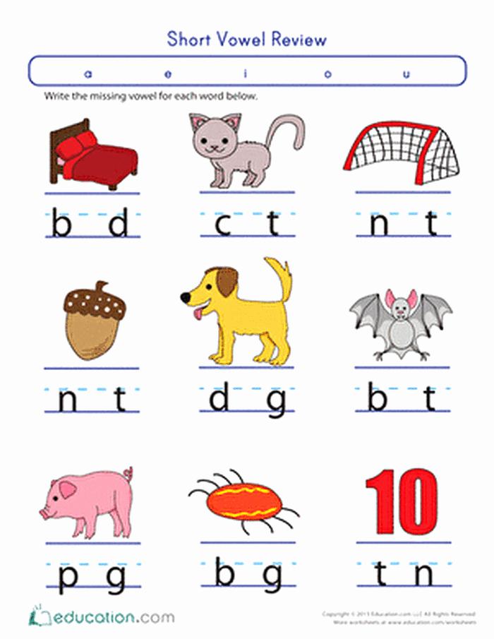 Vowel Worksheets for Kindergarten Best Of 25 Short Vowel Worksheet Kindergarten
