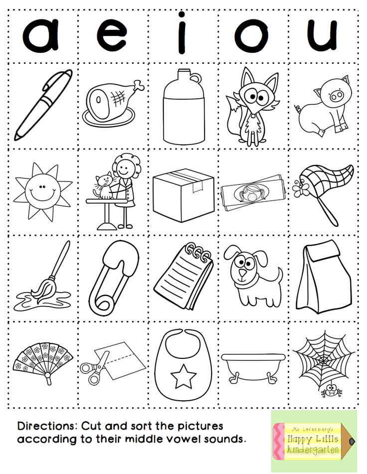 Vowel Worksheets for Kindergarten Best Of Fun with Phonics Word Work Style