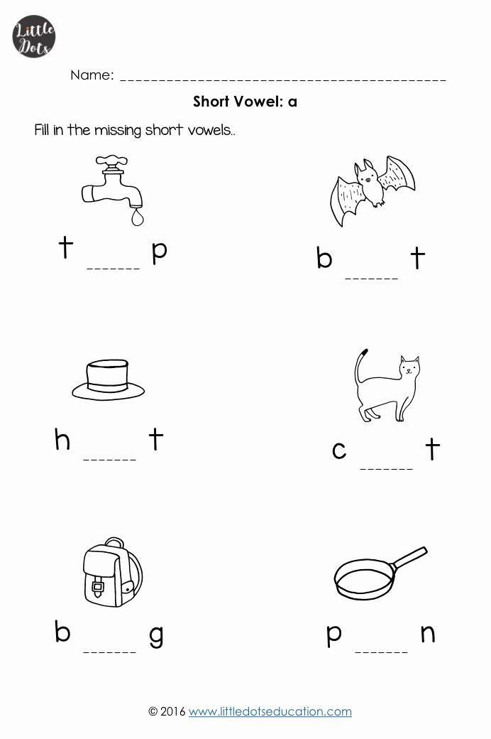 Vowel Worksheets for Kindergarten Luxury Short Vowels Worksheets