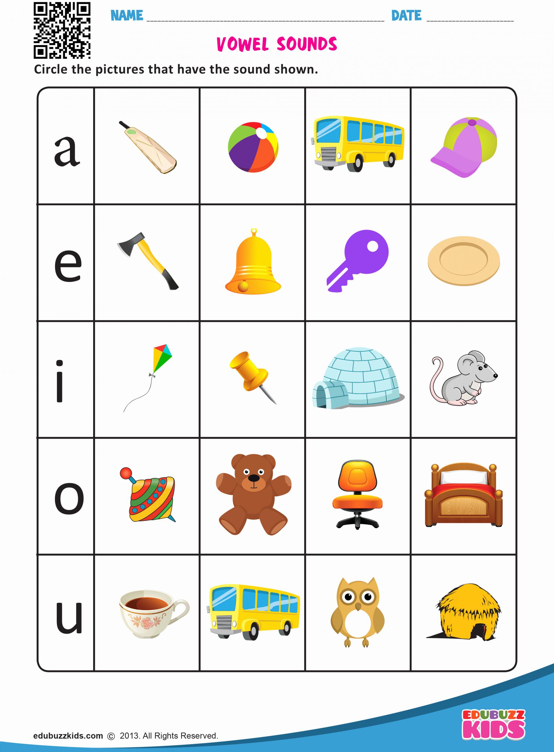 Vowel Worksheets for Kindergarten New Vowel sounds Worksheets for Preschool and Kindergarten
