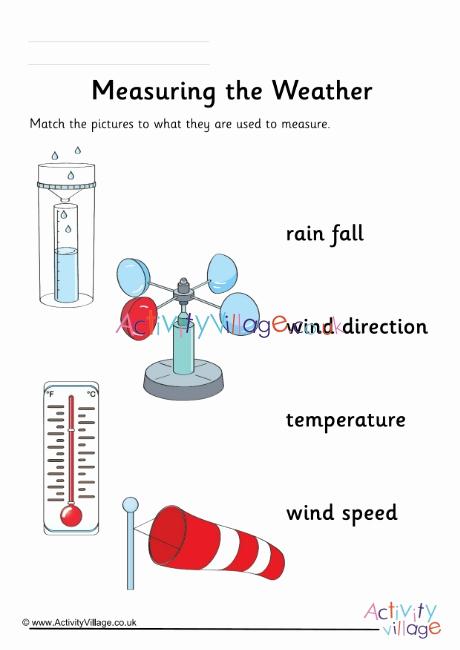 Weather tools Worksheet Beautiful Measuring the Weather Worksheet