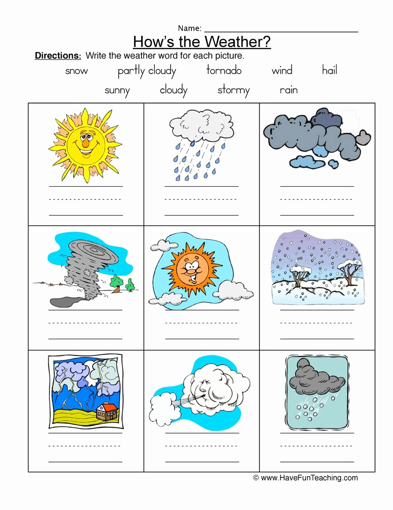 Weather tools Worksheet Lovely 20 Weather Worksheets for 2nd Grade