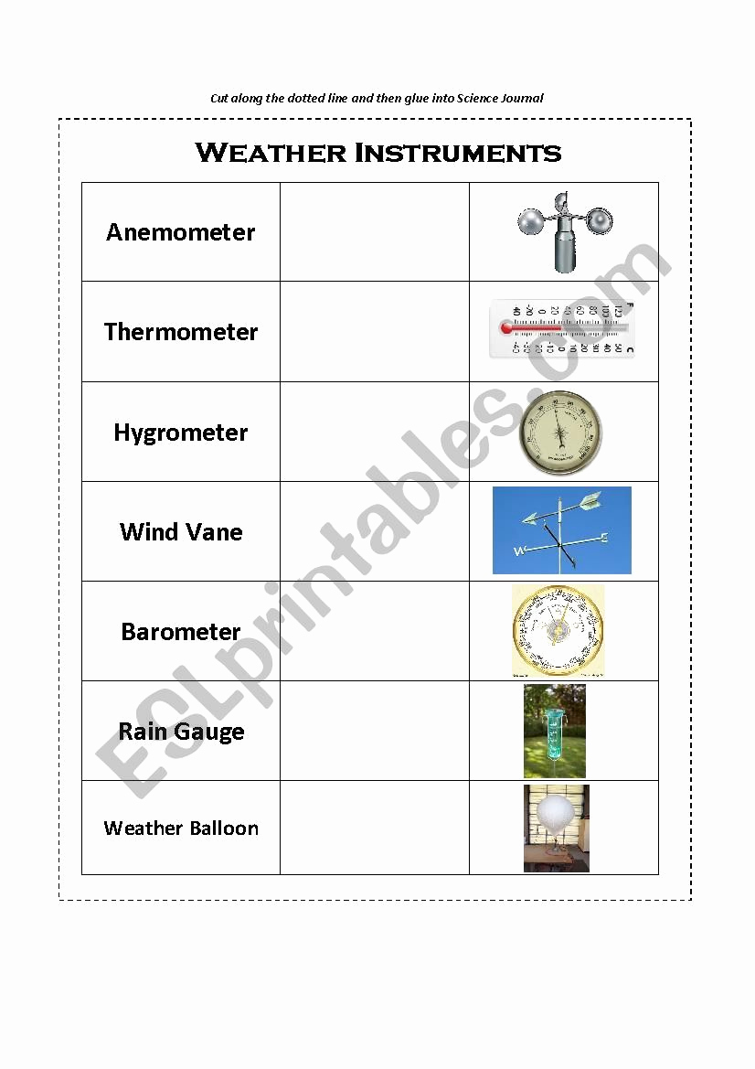 Weather tools Worksheet Lovely Weather Instruments Worksheet Grade 3 Pin Science