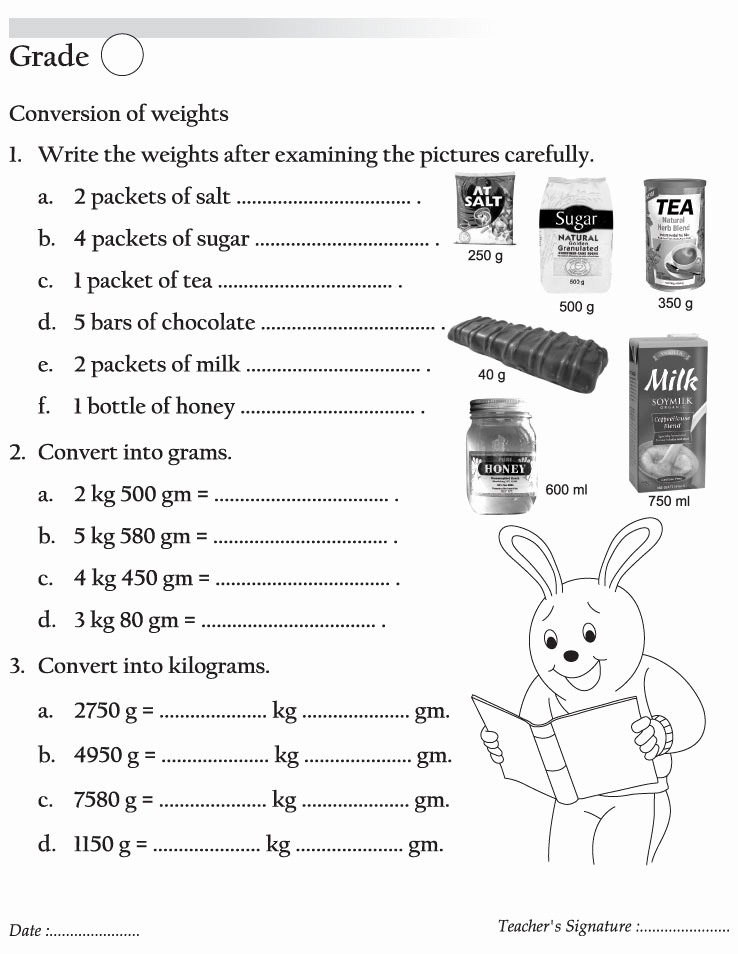 Weight Conversion Worksheets Lovely Conversion Of Weights