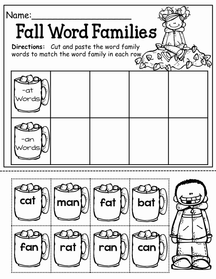 Word Family Worksheet Kindergarten Best Of 13 Best Of Cvc Word Families Worksheets