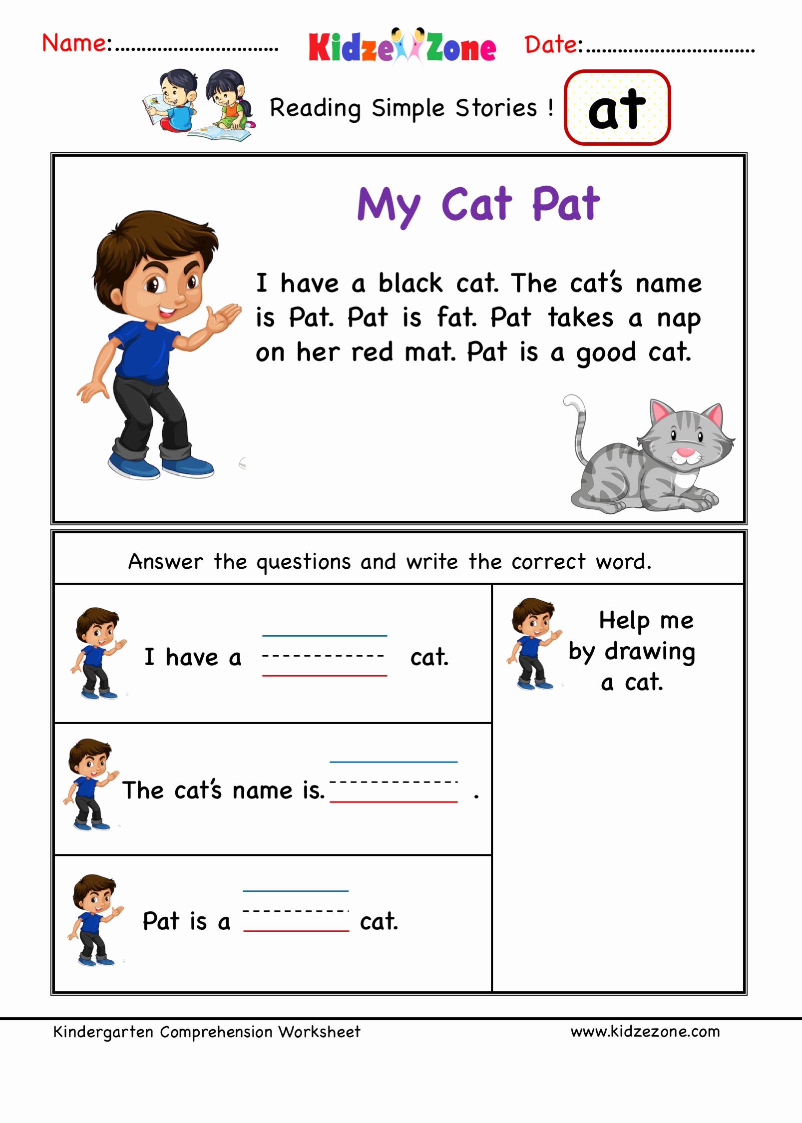 Word Family Worksheet Kindergarten Best Of Kindergarten Worksheets at Word Family Reading