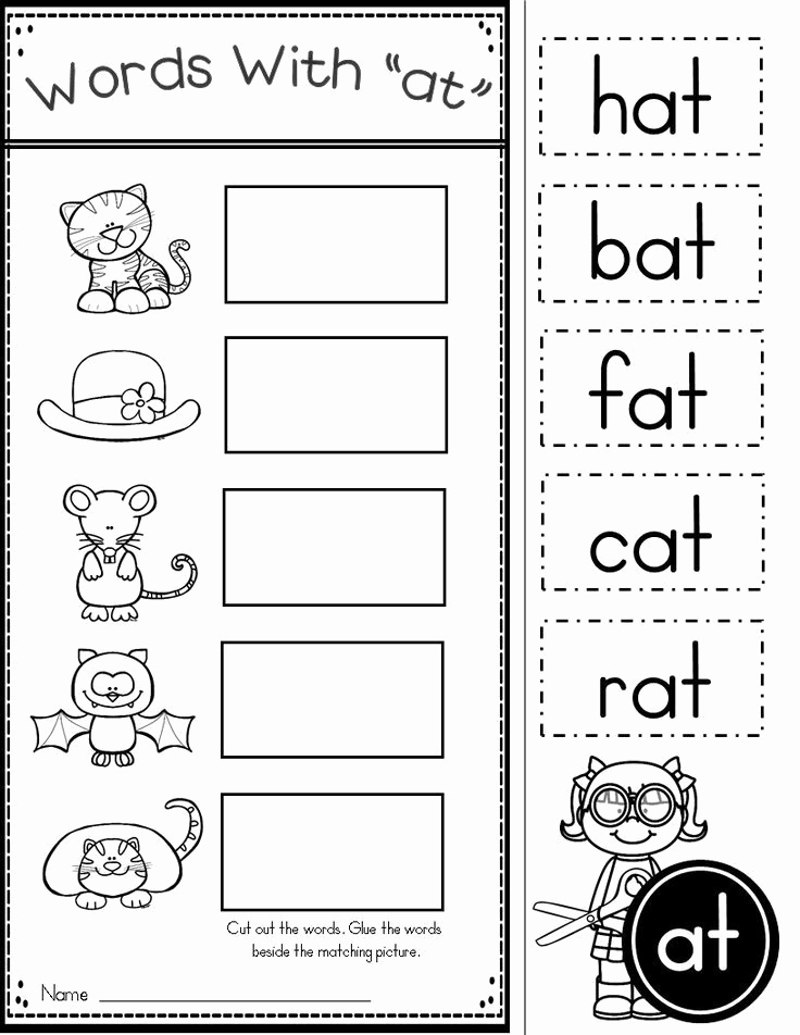Word Family Worksheet Kindergarten Inspirational Free Word Family at Practice Printables and Activities