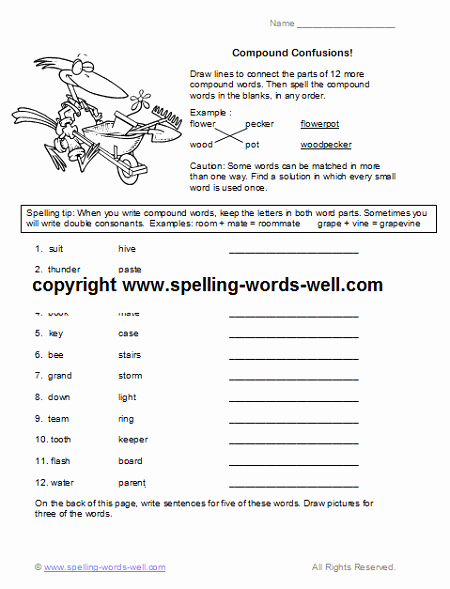 Word form Worksheets 4th Grade New Free Fourth Grade Worksheets for Language Practice