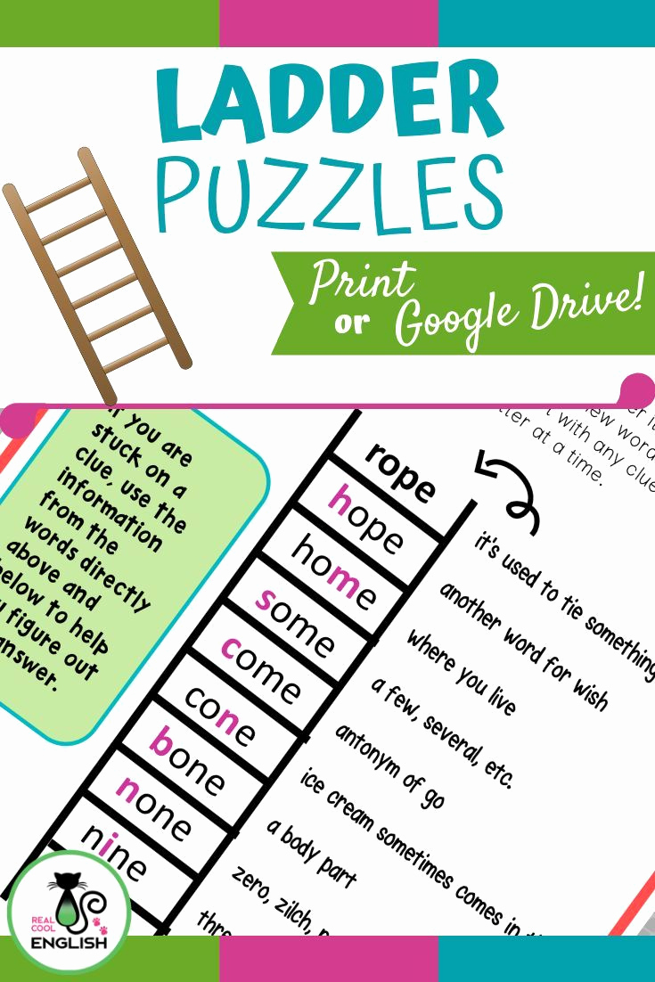 Word Ladder Worksheets Fresh Word Ladder Puzzle for Spelling and Vocabulary