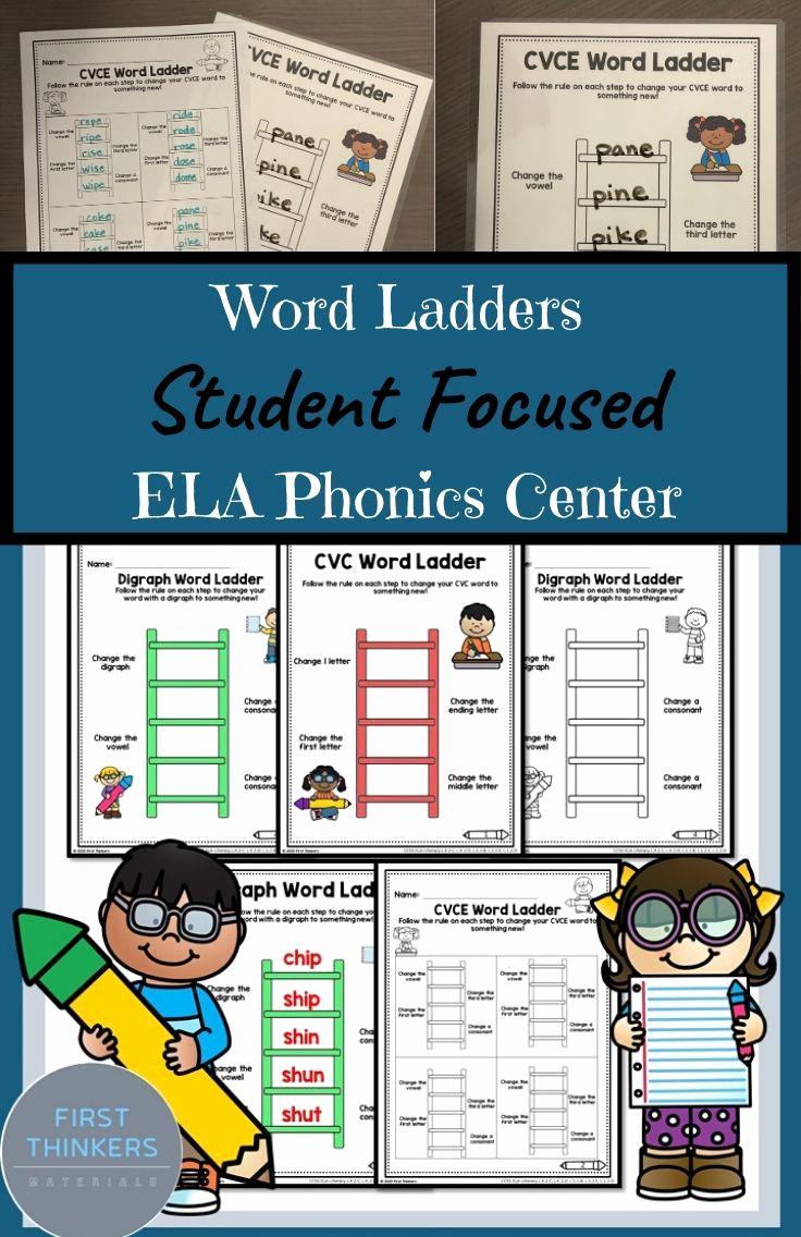 Word Ladder Worksheets Fresh Word Ladders Phonics Practice Worksheet