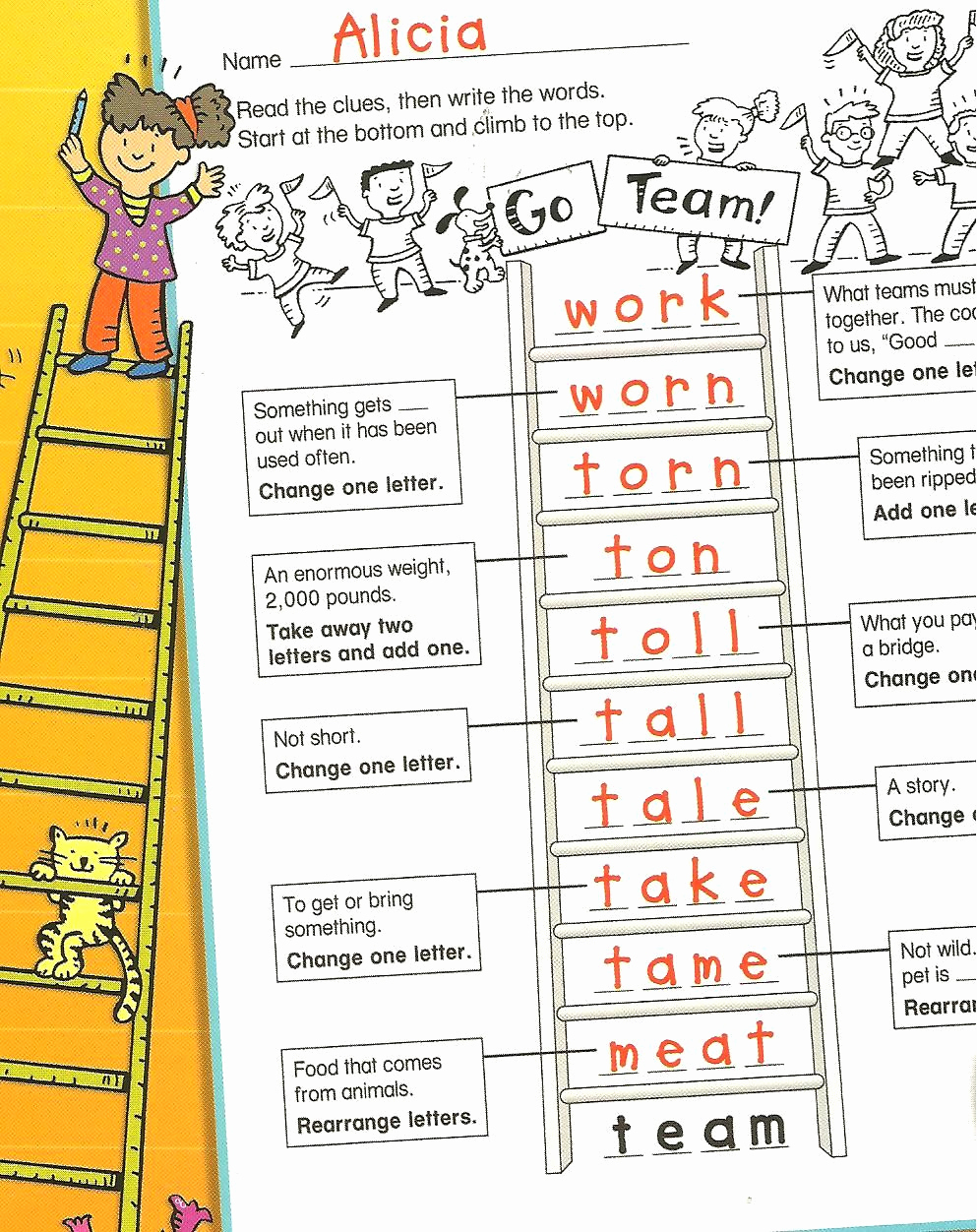 Word Ladder Worksheets Inspirational Multisensory Monday Word Ladders