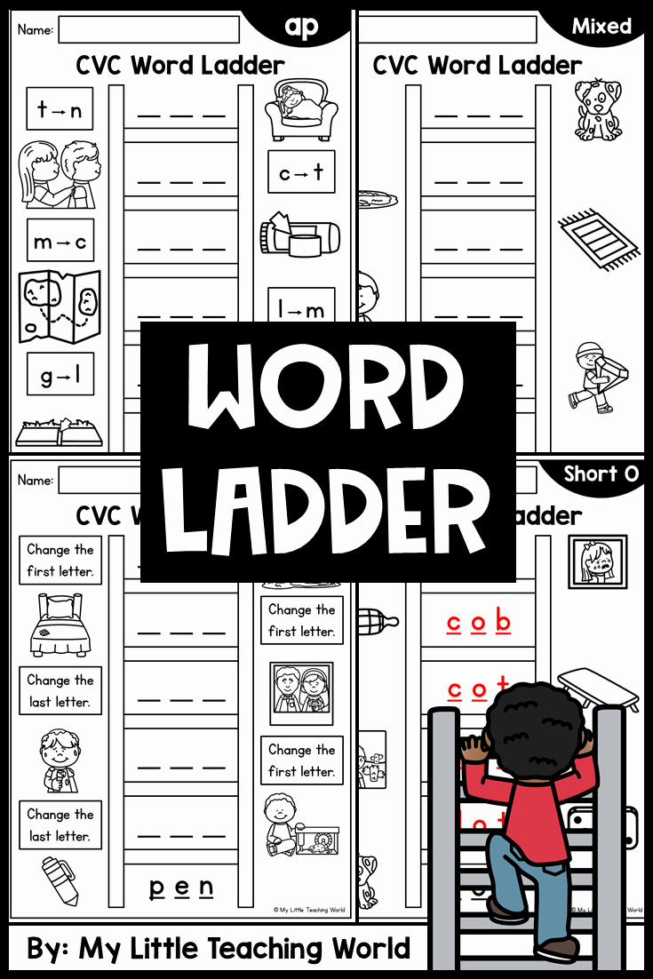 Word Ladder Worksheets Lovely Word Ladder Distance Learning Printable