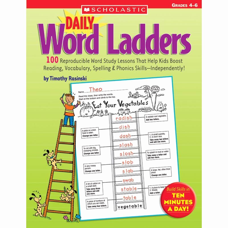 Word Ladder Worksheets New Daily Word Ladders Gr 4 6