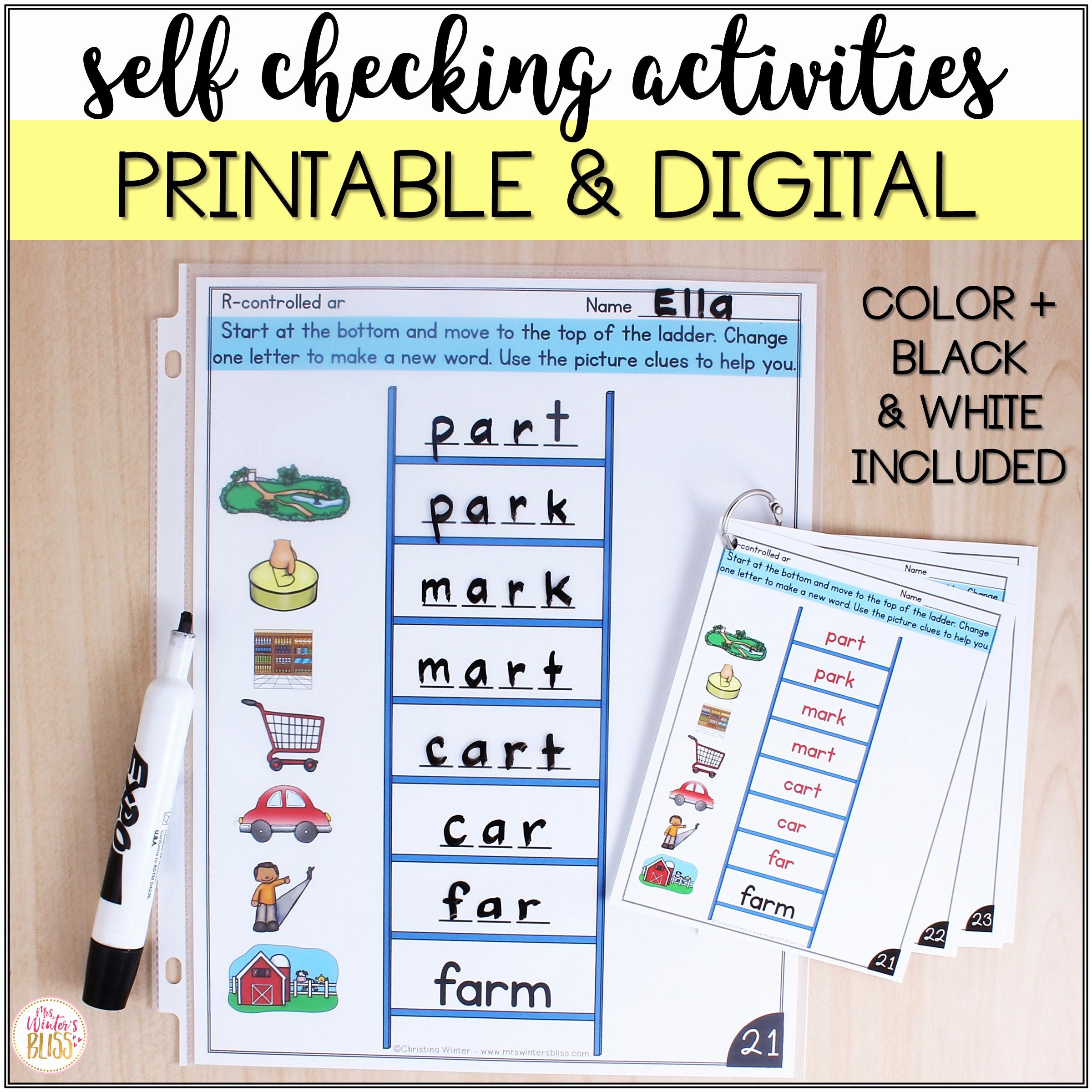 Word Ladder Worksheets New Word Ladders Phonics Bundle Digital & Printable Mrs