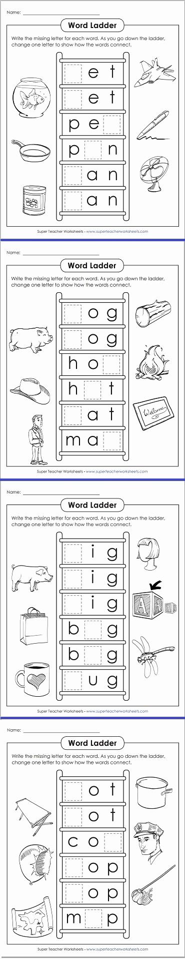 Word Ladder Worksheets Unique Word Ladder Worksheets