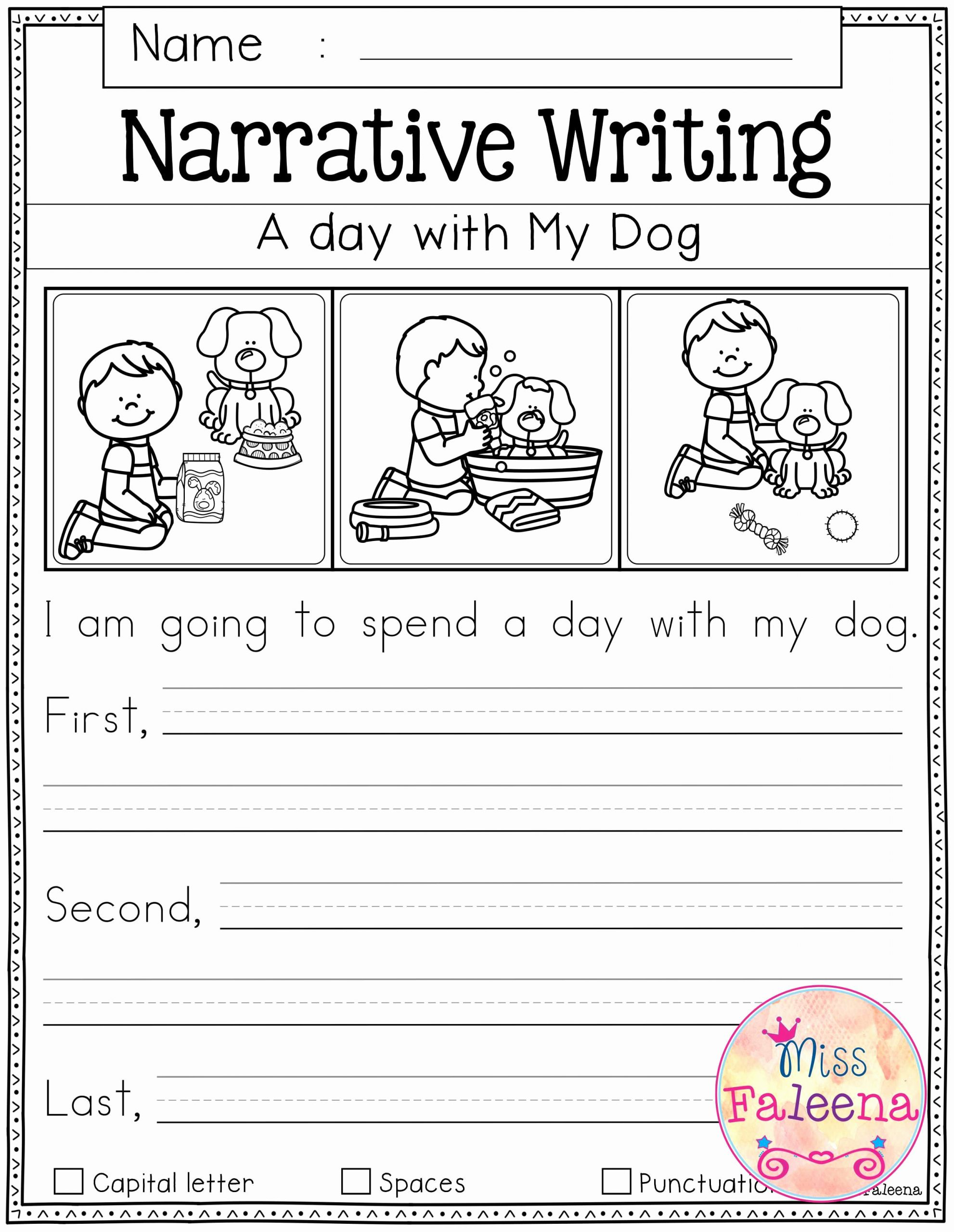 Worksheets for First Grade Writing Fresh Writing Worksheets for 1st Grade Free Printable