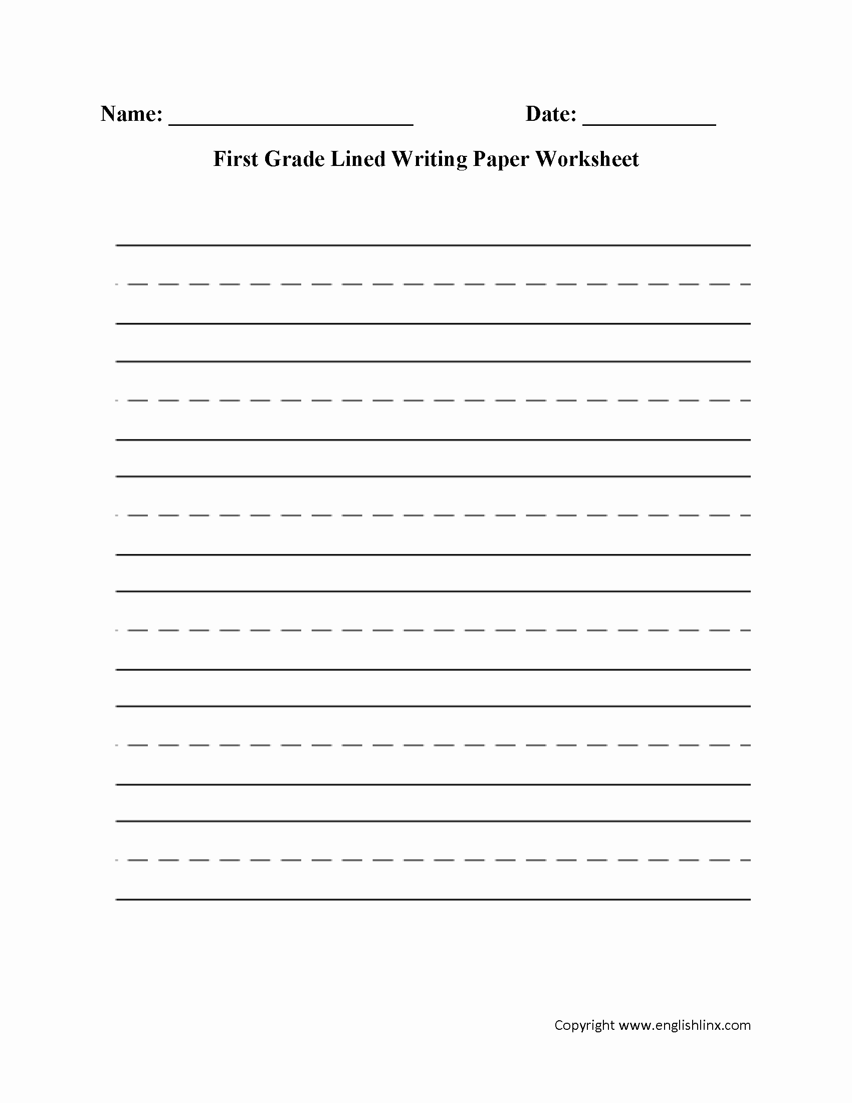 Worksheets for First Grade Writing Unique Printable First Grade Writing Paper that are Bewitching